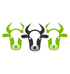 Cattle flat icon vector