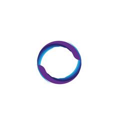 circle logo and symbols vector image
