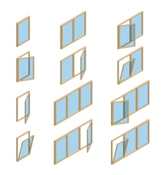 collection of various windows types For vector image