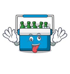 Crazy freezer bag mascot cartoon vector