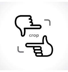 cropping hands vector image