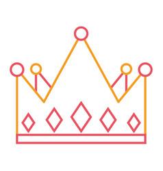 Crown monarchy jewelry luxury gem vector