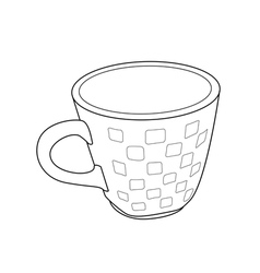 cup outline vector image