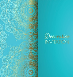 Decorative invitation background vector image