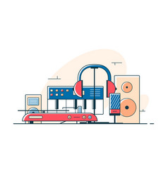 Electrical audio devices and equipment vector