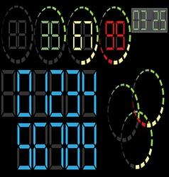 Electronic figures vector