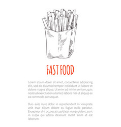 Fast food french fries poster vector