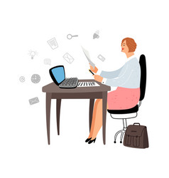 female manager at work vector image