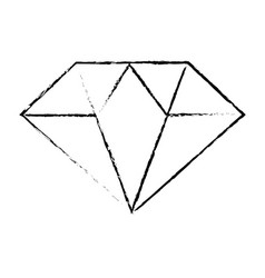 Figure beautiful gem diamond to luxury use vector