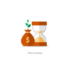 Finances and investment management budget planning vector image