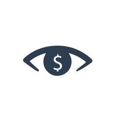 financial vision icon vector image