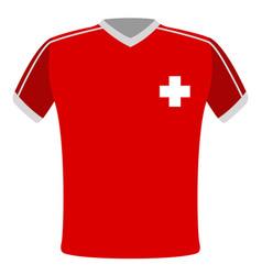 flag t-shirt of switzerland vector image