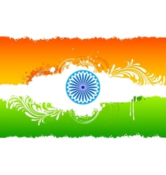 Floral Indian Flag vector