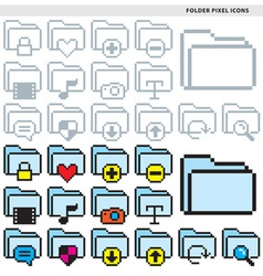 Folder pixel icons vector