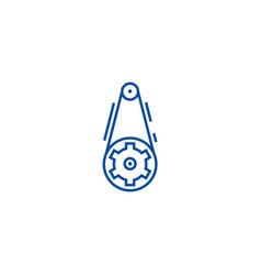 gear line icon concept gear flat symbol vector image