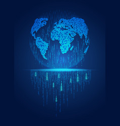 global in digital technology style concept digital vector image