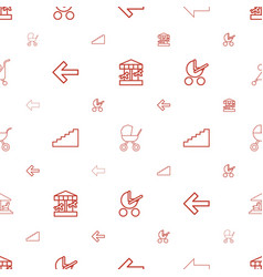 go icons pattern seamless white background vector image