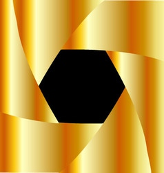 Golden shutter background vector