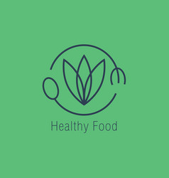 healthy food logo icon design vector image
