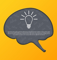 Human brain abstract background vector