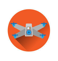 icon symbol of quadrocopter drona vector image