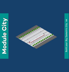isometric 3d transport train vector image