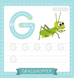 Letter g uppercase tracing practice worksheet vector