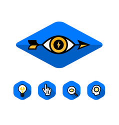 logo eye and arrow logo and icons vector image