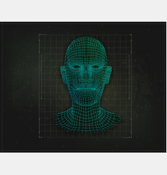 Low poly face human or humanoid isolated vector