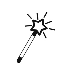 Magic wand icon simple style vector image