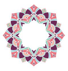 Mandala decorative round ornament isolated on vector