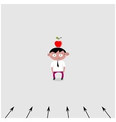 Marketing target customer vector image
