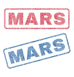 Mars textile stamps vector