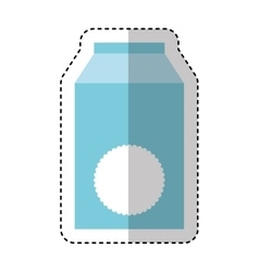 milk box isolated icon vector image