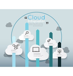 Modern infographic for cloud technology vector