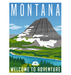 montana travel poster vector image