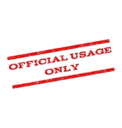 Official USAge Only Watermark Stamp vector