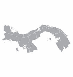 panama regions map vector image