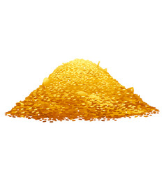 Pile gold coins vector