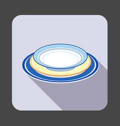 plate set concept background cartoon style vector image