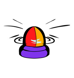 police flasher icon icon cartoon vector image