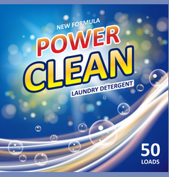 Power clean soap banner ads design laundry vector