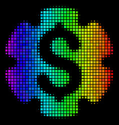 Rainbow dot financial settings gear icon vector