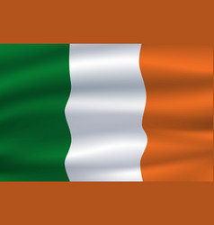 Republic ireland national flag irish tricolor vector