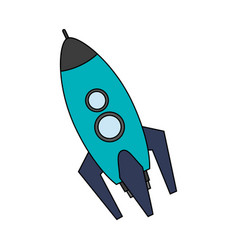 Rocket spaceship icon image vector