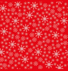 seamless christmas snowflake red background vector image