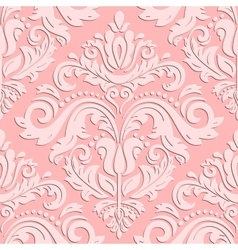 Seamless Orient Pattern With 3D Elements vector