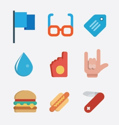 Set flat style icons vector