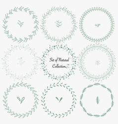 Set of hand drawn round frames for decoration vector