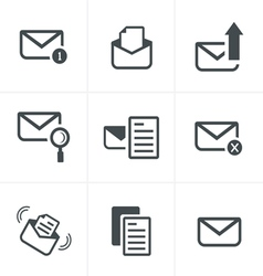 Set of icons for messages Design vector image